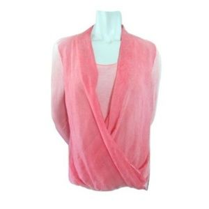 Kapalua Concepts Pink Top with Draping Size Small